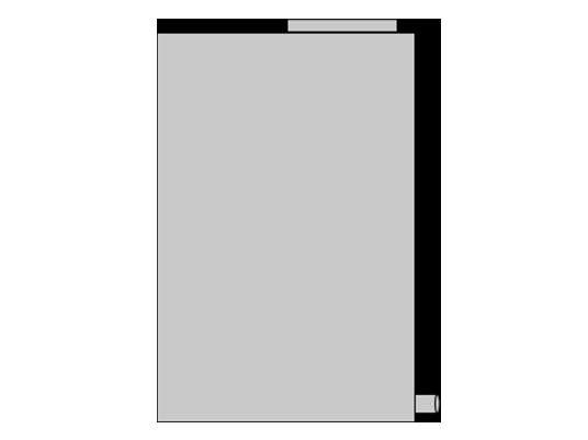 Depósito vertical con bases planas