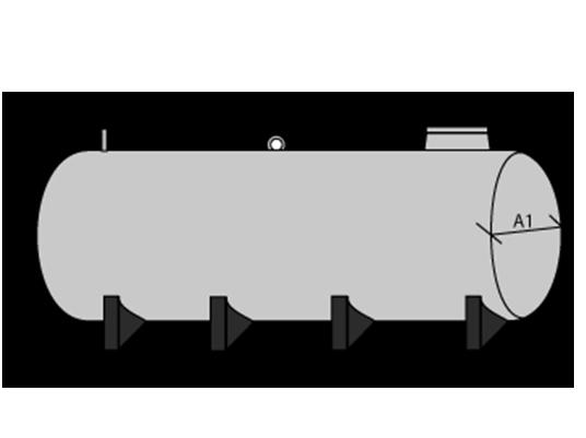 Cisterna / Cuba de poliéster con soporte metálico