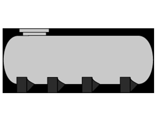 Depósito horizontal con patas