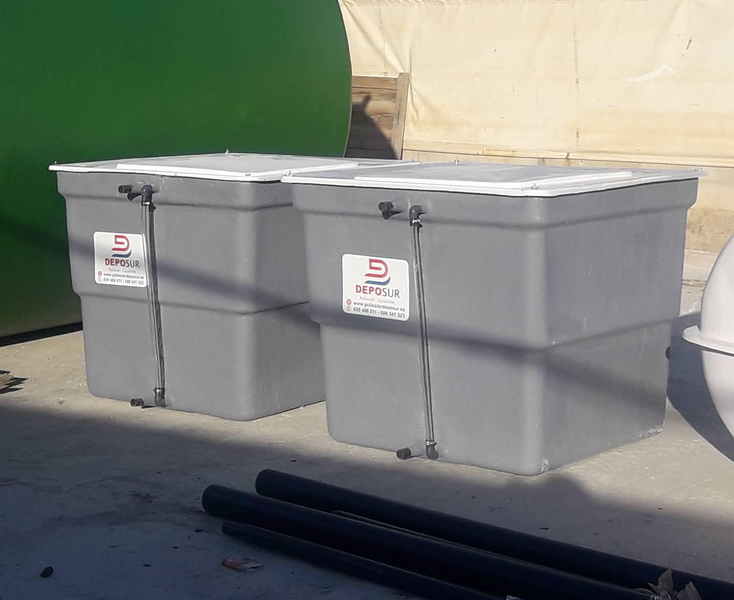 Depósito standard rectangular con tapa